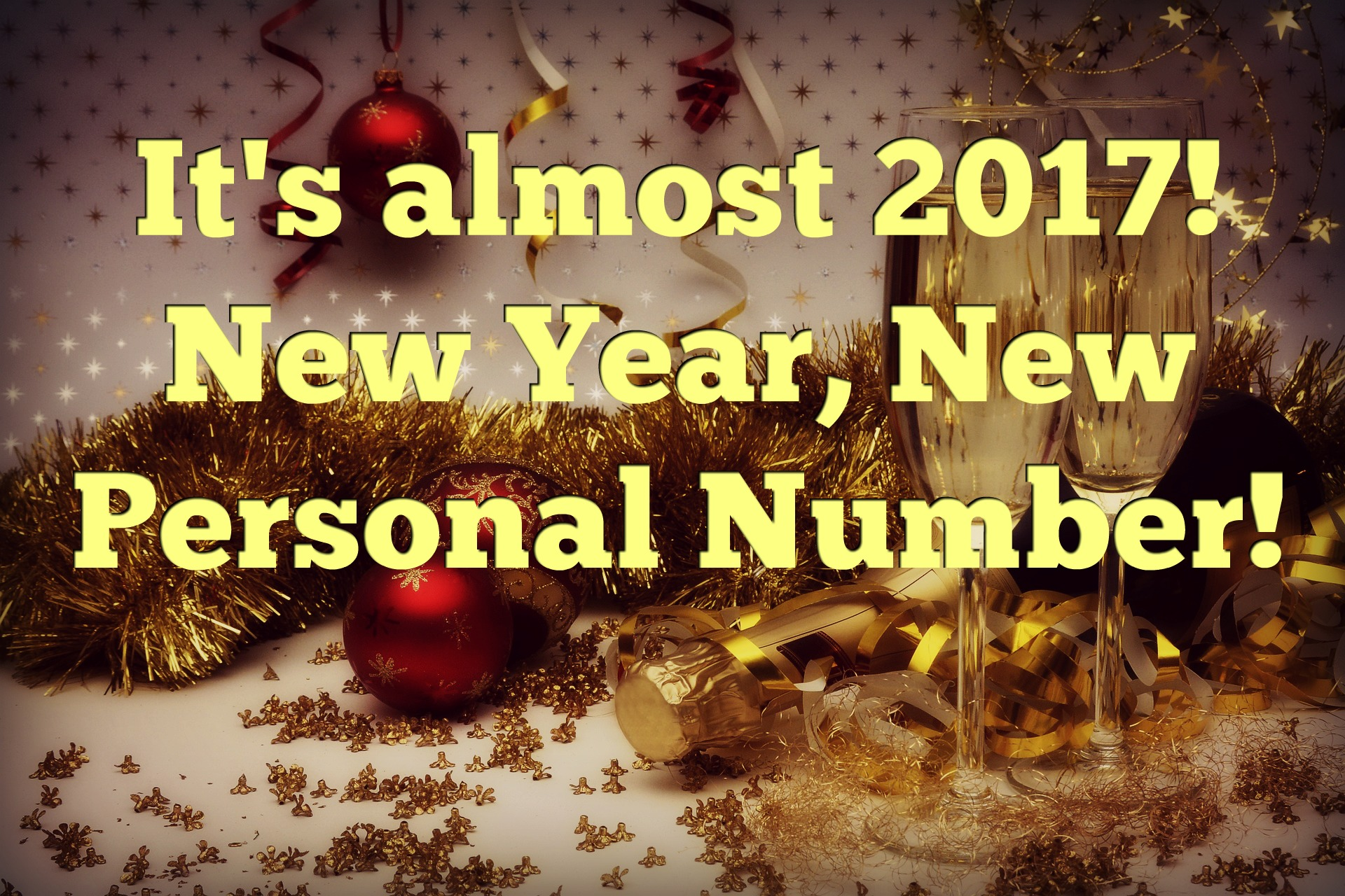 2017 – New Year, New Personal Number!